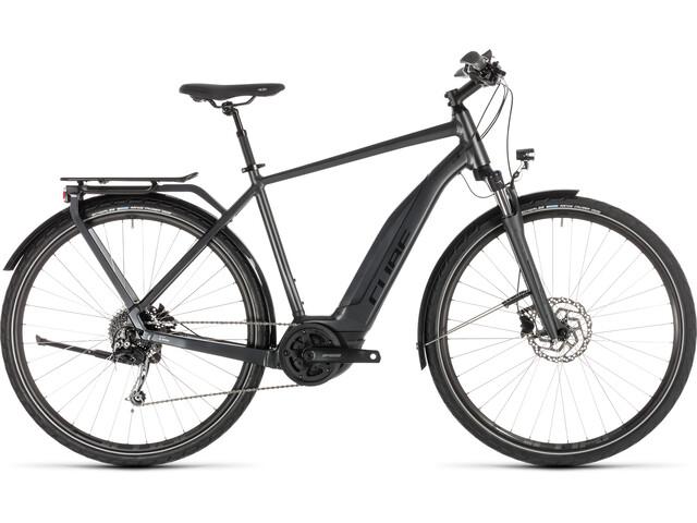 cube touring hybrid 400 e trekking bike grey at. Black Bedroom Furniture Sets. Home Design Ideas